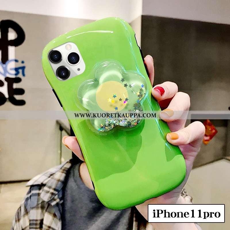 Kuori iPhone 11 Pro, Kuoret iPhone 11 Pro, Kotelo iPhone 11 Pro Silikoni Suuntaus Vihreä Net Red Juo