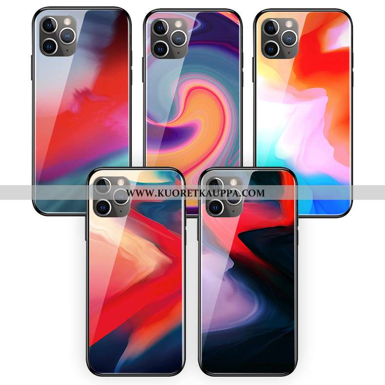 Kuori iPhone 11 Pro Max, Kuoret iPhone 11 Pro Max, Kotelo iPhone 11 Pro Max Lasi Silikoni Vaalean Ab