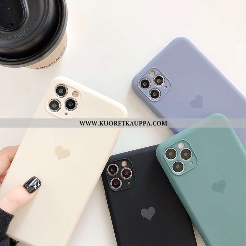 Kuori iPhone 11 Pro Max, Kuoret iPhone 11 Pro Max, Kotelo iPhone 11 Pro Max Valo Silikoni Valkoinen