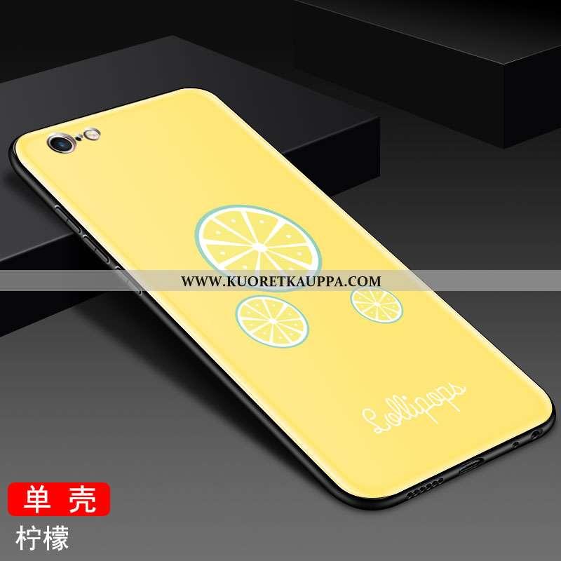 Kuori iPhone 6/6s, Kuoret iPhone 6/6s, Kotelo iPhone 6/6s Lasi Tila Murtumaton Suuntaus Ihana Keltai