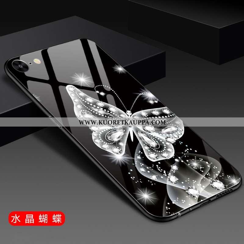 Kuori iPhone 6/6s, Kuoret iPhone 6/6s, Kotelo iPhone 6/6s Lasi Tila Puhelimen Suuntaus Mustat