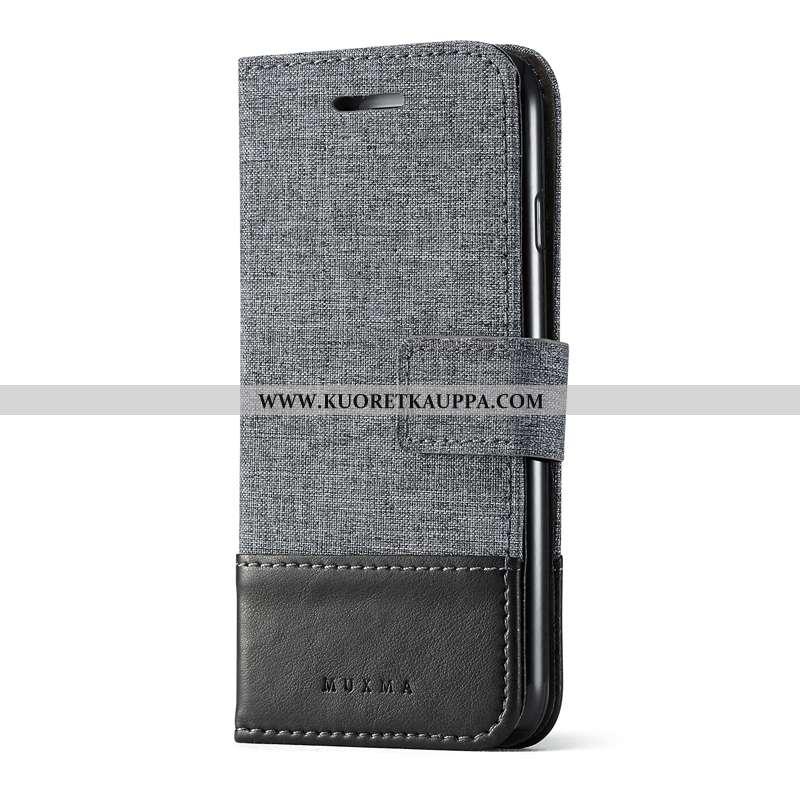 Kuori iPhone 6/6s, Kuoret iPhone 6/6s, Kotelo iPhone 6/6s Nahkakuori Näytönsuojus Karkaisu Musta Mus