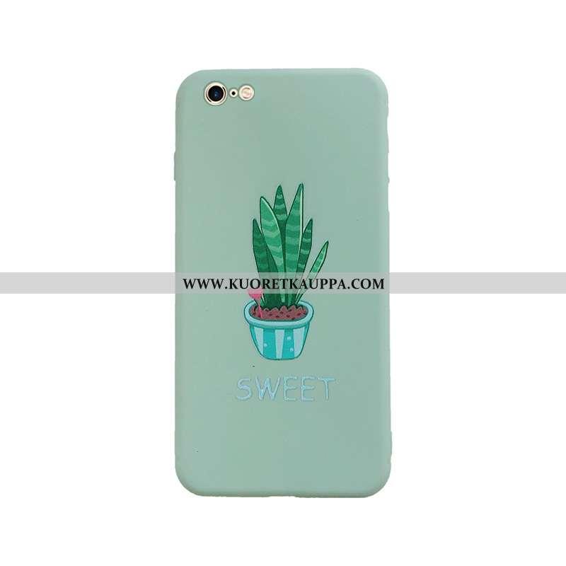 Kuori iPhone 6/6s, Kuoret iPhone 6/6s, Kotelo iPhone 6/6s Pesty Suede Persoonallisuus Vihreä Suojaus