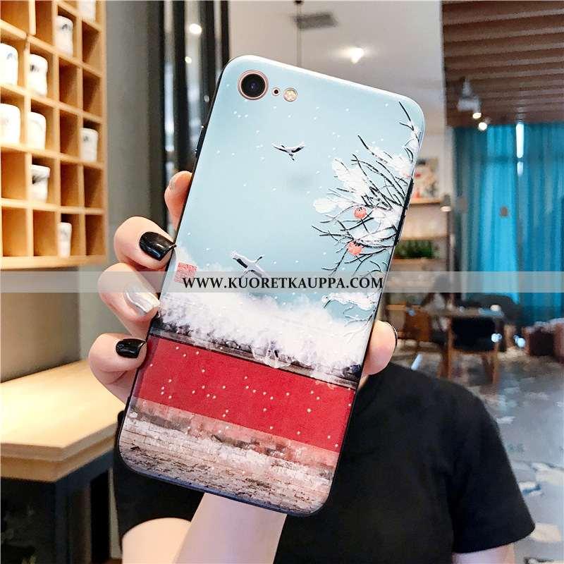 Kuori iPhone 7, Kuoret iPhone 7, Kotelo iPhone 7 Luova Kohokuviointi Kiinalainen Tyyli Sininen Silik