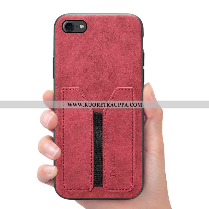 Kuori iPhone 7, Kuoret iPhone 7, Kotelo iPhone 7 Nahkakuori Salkku Puhelimen Punainen