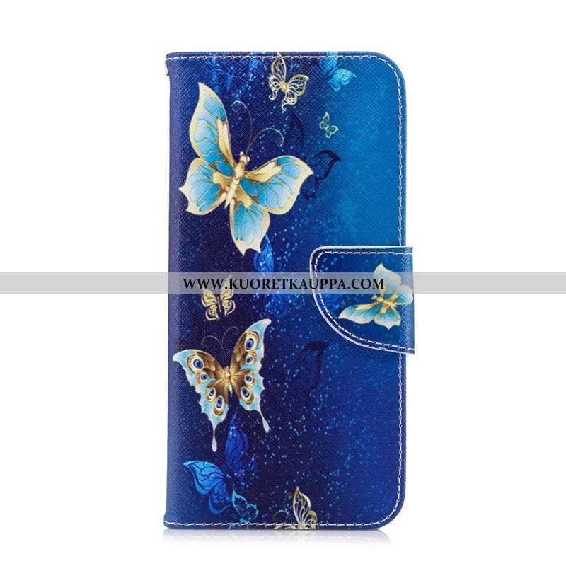 Kuori iPhone 7, Kuoret iPhone 7, Kotelo iPhone 7 Nahkakuori Suojaus Puhelimen Sininen