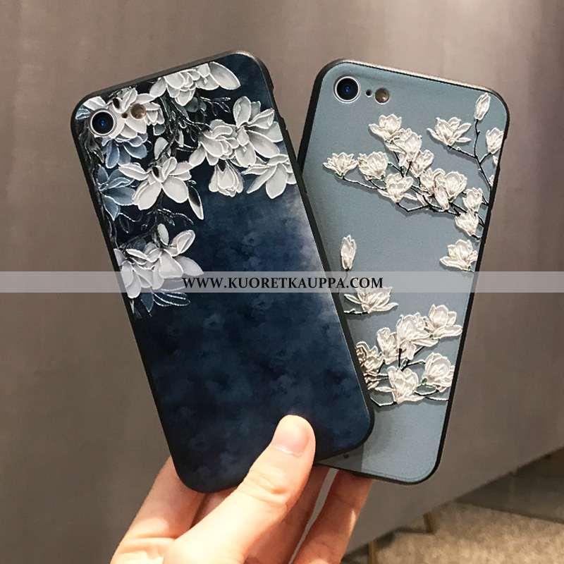 Kuori iPhone 7, Kuoret iPhone 7, Kotelo iPhone 7 Pehmeä Neste Suojaus Taide Puhelimen Tummansiniset