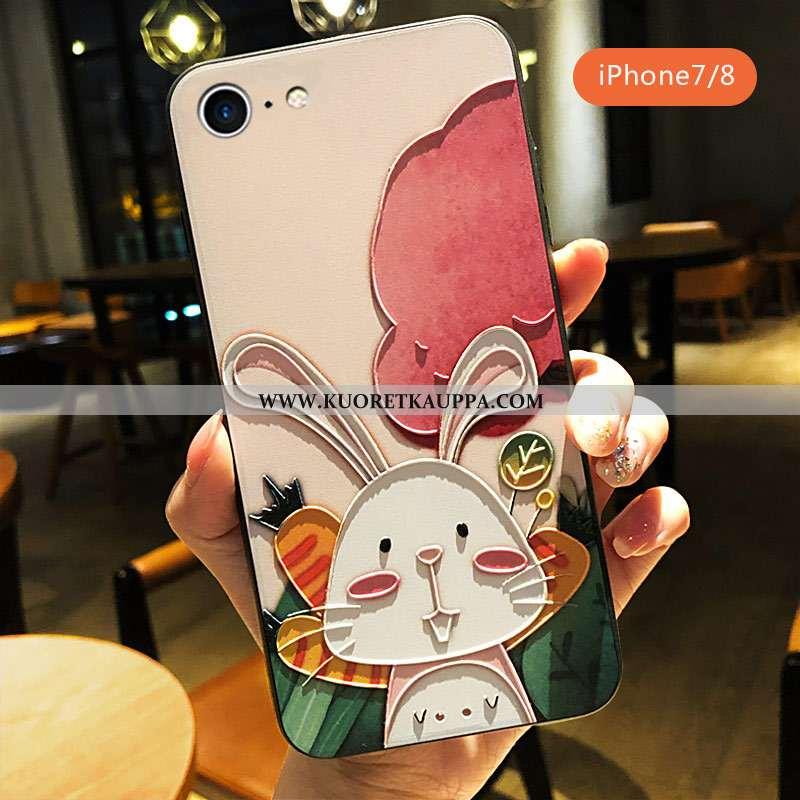 Kuori iPhone 7, Kuoret iPhone 7, Kotelo iPhone 7 Sarjakuva Ihana Kohokuviointi Pinkki