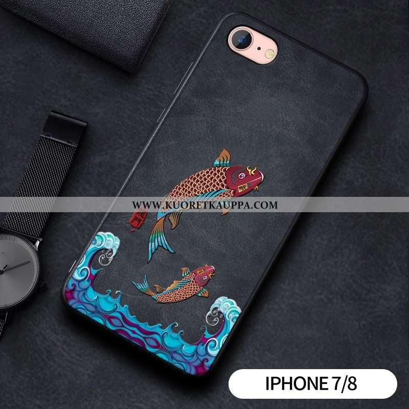 Kuori iPhone 7, Kuoret iPhone 7, Kotelo iPhone 7 Suojaus Tila Pesty Suede Yksinkertainen Lohikäärme
