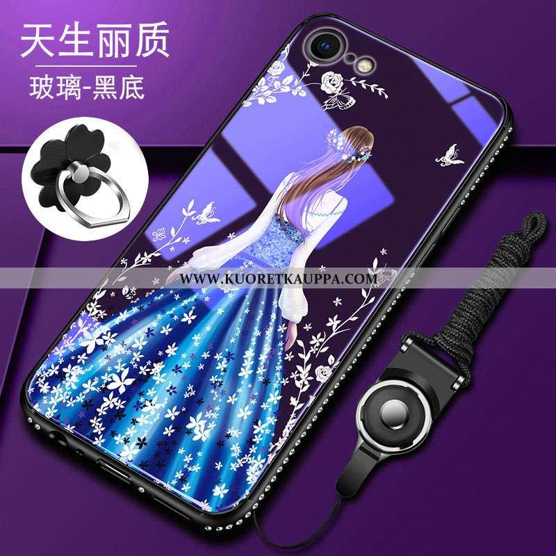 Kuori iPhone 8, Kuoret iPhone 8, Kotelo iPhone 8 Pehmeä Neste Silikoni All Inclusive Sininen