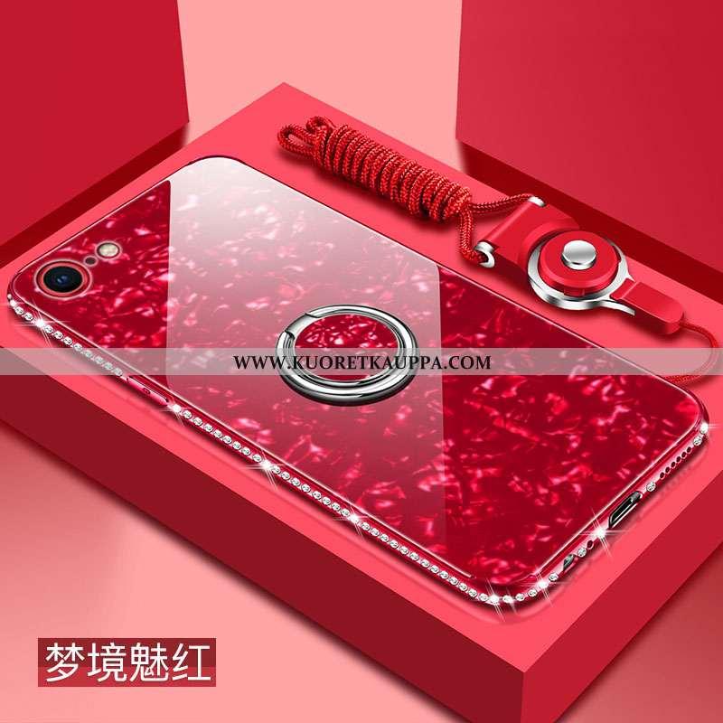 Kuori iPhone 8, Kuoret iPhone 8, Kotelo iPhone 8 Pehmeä Neste Silikoni Punainen Murtumaton