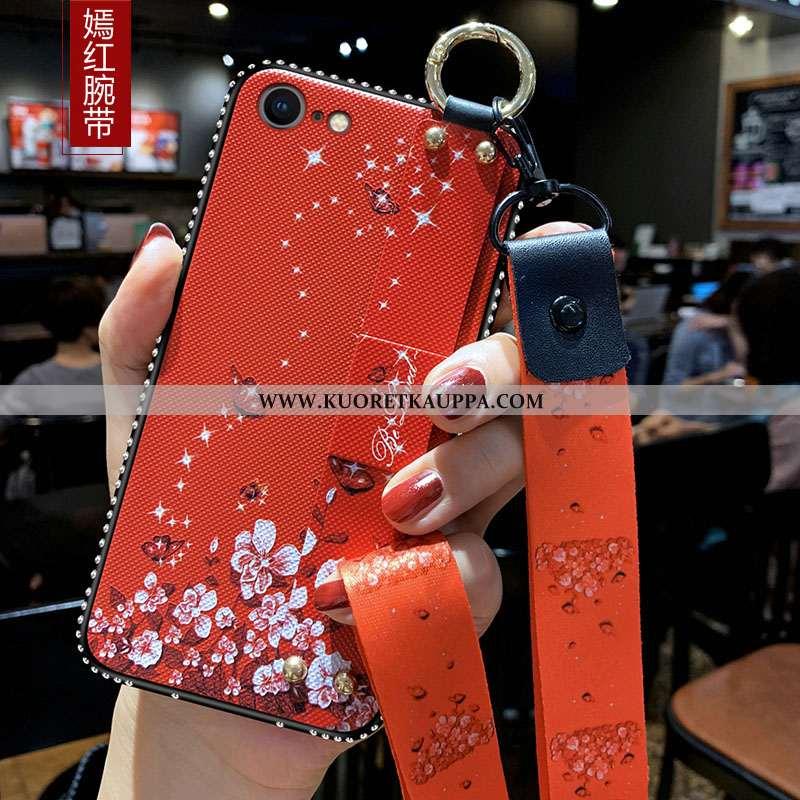 Kuori iPhone 8, Kuoret iPhone 8, Kotelo iPhone 8 Pehmeä Neste Silikoni Suojaus Pieni Ripustettavat K
