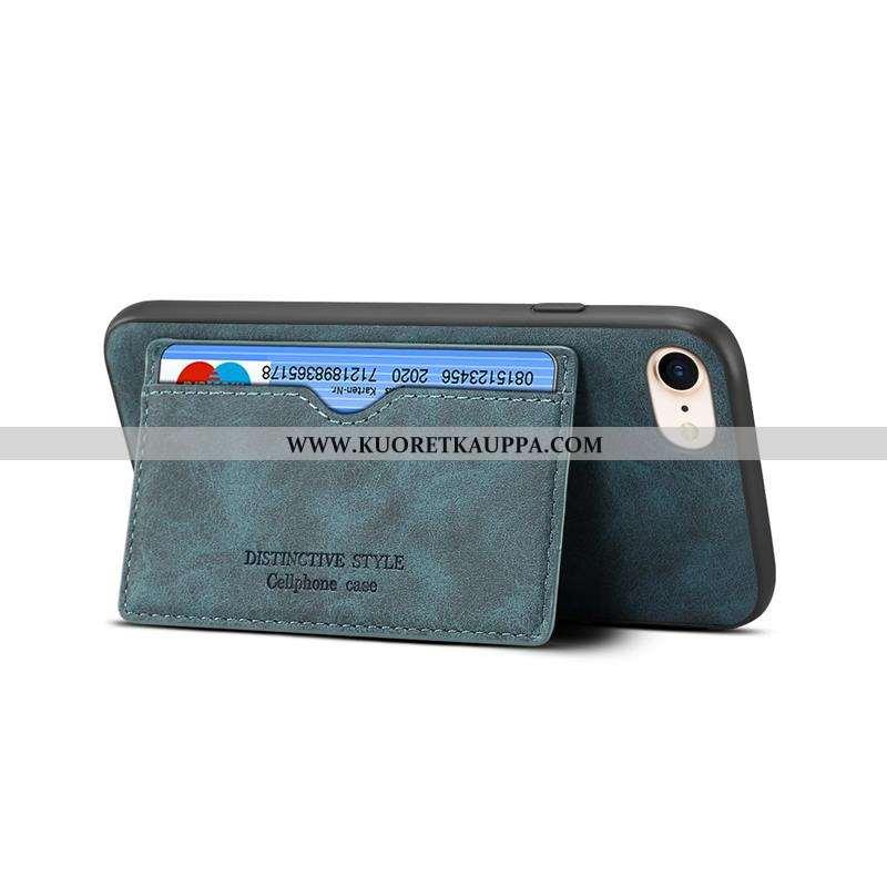 Kuori iPhone 8, Kuoret iPhone 8, Kotelo iPhone 8 Pesty Suede Nahkakuori Yksinkertainen Vihreä