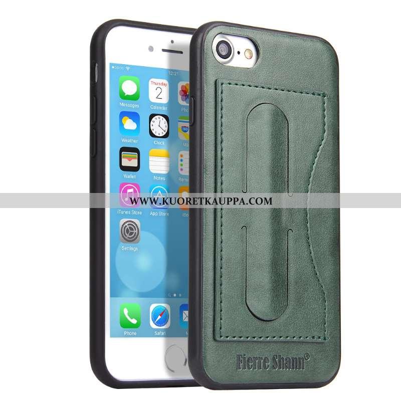 Kuori iPhone 8, Kuoret iPhone 8, Kotelo iPhone 8 Suojaus Nahkakuori Puhelimen All Inclusive Vihreä