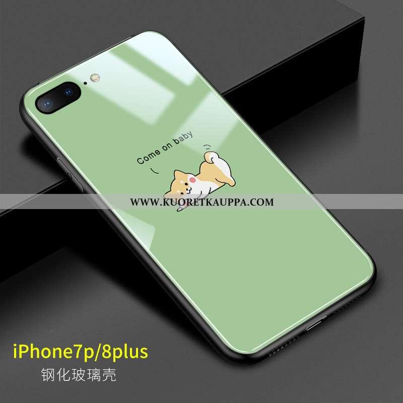 Kuori iPhone 8 Plus, Kuoret iPhone 8 Plus, Kotelo iPhone 8 Plus Ihana Pehmeä Neste Koira Lasi Vihreä