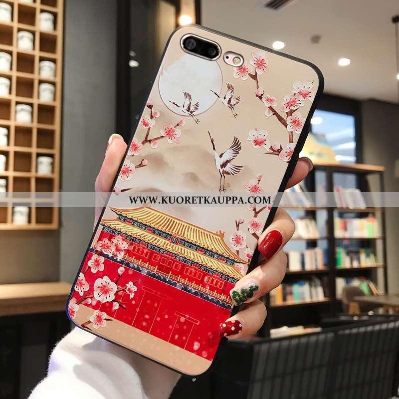 Kuori iPhone 8 Plus, Kuoret iPhone 8 Plus, Kotelo iPhone 8 Plus Kohokuviointi Pehmeä Neste Murtumato