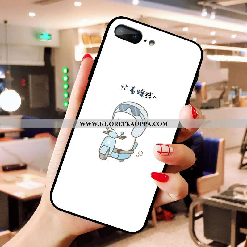 Kuori iPhone 8 Plus, Kuoret iPhone 8 Plus, Kotelo iPhone 8 Plus Lasi Persoonallisuus Valkoinen Murtu