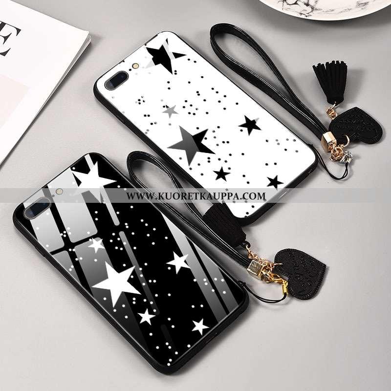 Kuori iPhone 8 Plus, Kuoret iPhone 8 Plus, Kotelo iPhone 8 Plus Silikoni Suojaus Net Red Musta Lasi
