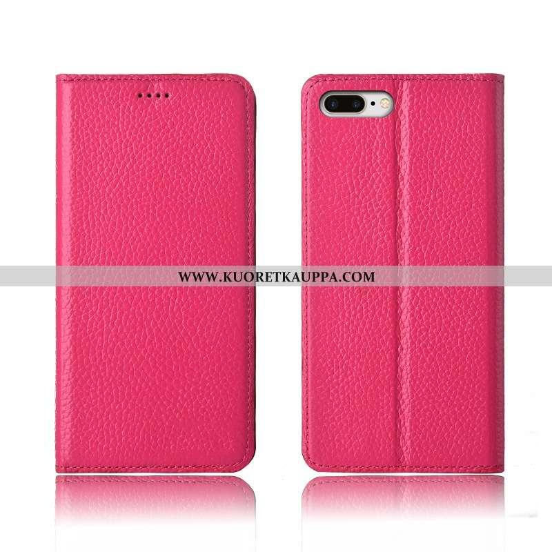 Kuori iPhone 8 Plus, Kuoret iPhone 8 Plus, Kotelo iPhone 8 Plus Suojaus Nahkakuori Uusi Pinkki