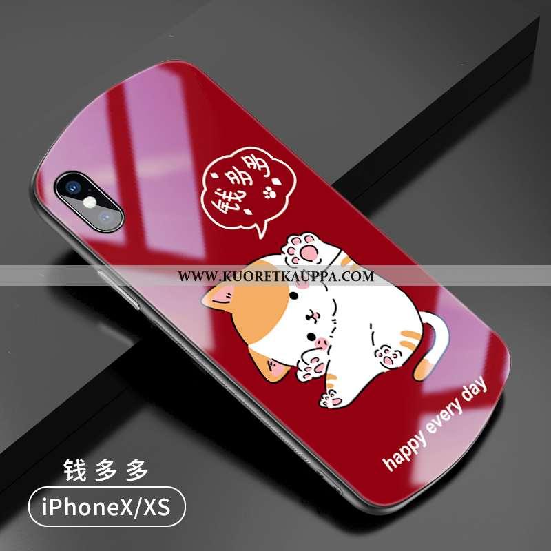 Kuori iPhone X, Kuoret iPhone X, Kotelo iPhone X Ihana Ultra Luova Punainen Murtumaton