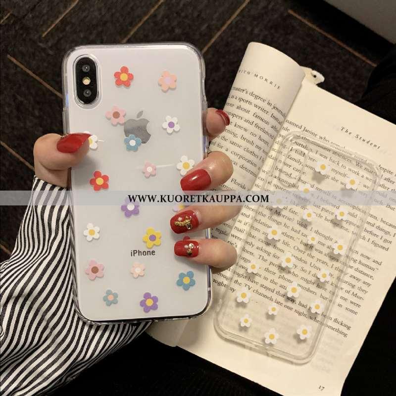 Kuori iPhone X, Kuoret iPhone X, Kotelo iPhone X Läpinäkyvä Silikoni Puhelimen All Inclusive Valkoin