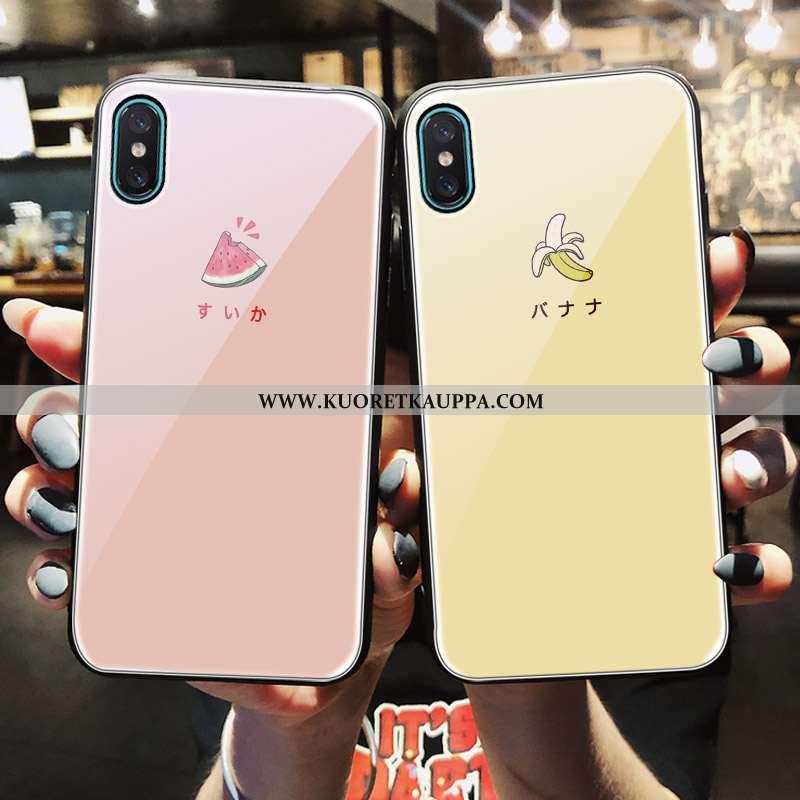 Kuori iPhone X, Kuoret iPhone X, Kotelo iPhone X Lasi Ihana Pieni Jauhe Pinkki