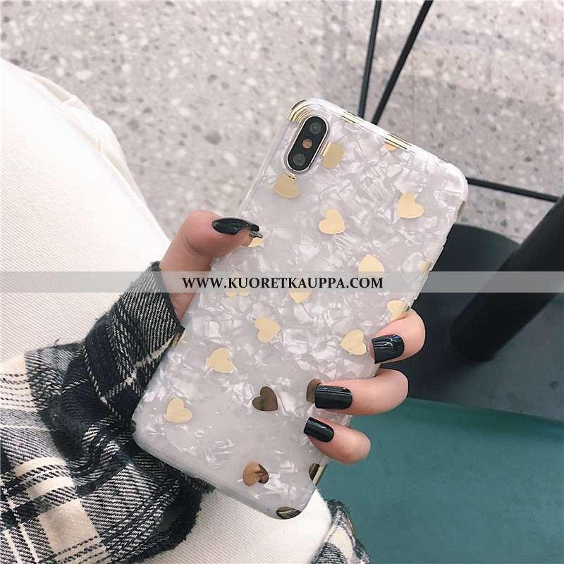 Kuori iPhone X, Kuoret iPhone X, Kotelo iPhone X Pehmeä Neste Puhelimen Rakkaus Kulta Valkoinen