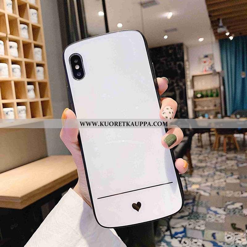 Kuori iPhone X, Kuoret iPhone X, Kotelo iPhone X Persoonallisuus Luova Rakkaus Net Red Valkoinen