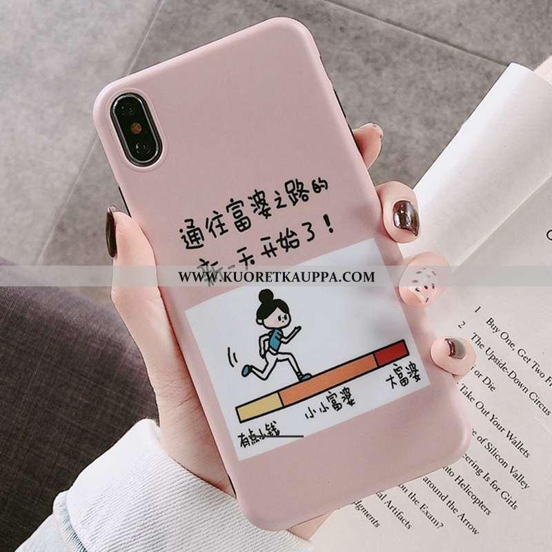 Kuori iPhone X, Kuoret iPhone X, Kotelo iPhone X Persoonallisuus Luova Silikoni Suuntaus Pinkki