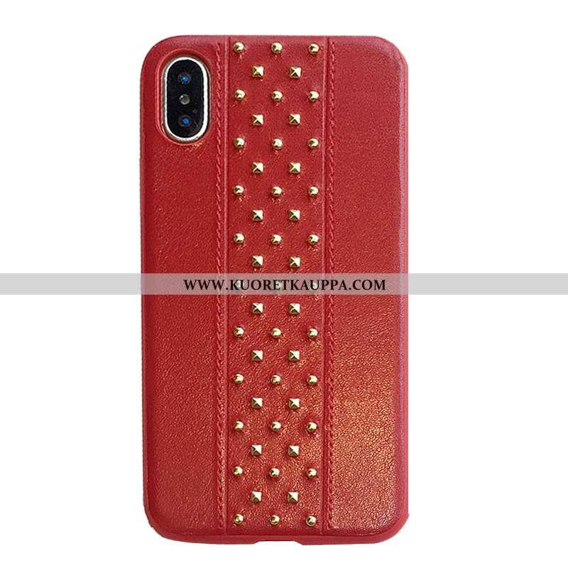 Kuori iPhone X, Kuoret iPhone X, Kotelo iPhone X Persoonallisuus Luova Tila Kiinteä Väri Suojaus Pun