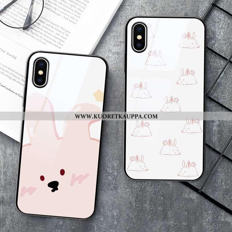 Kuori iPhone X, Kuoret iPhone X, Kotelo iPhone X Silikoni Suojaus Sarjakuva Kova Valkoinen