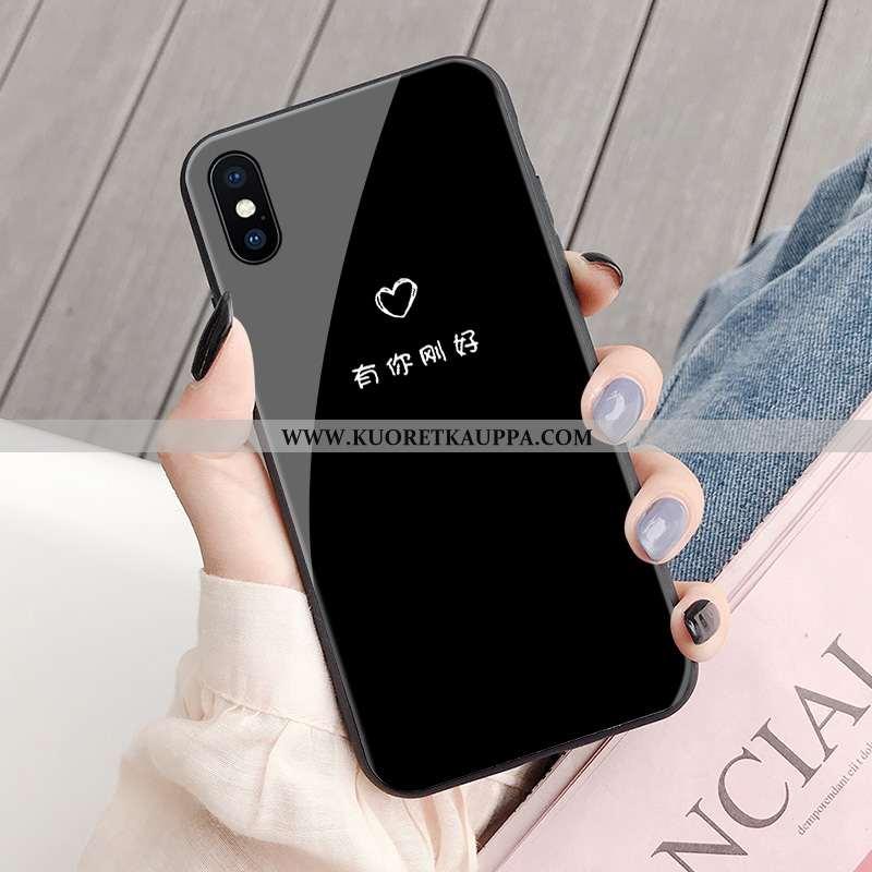 Kuori iPhone X, Kuoret iPhone X, Kotelo iPhone X Suojaus Persoonallisuus Yksinkertainen Luova Mustat