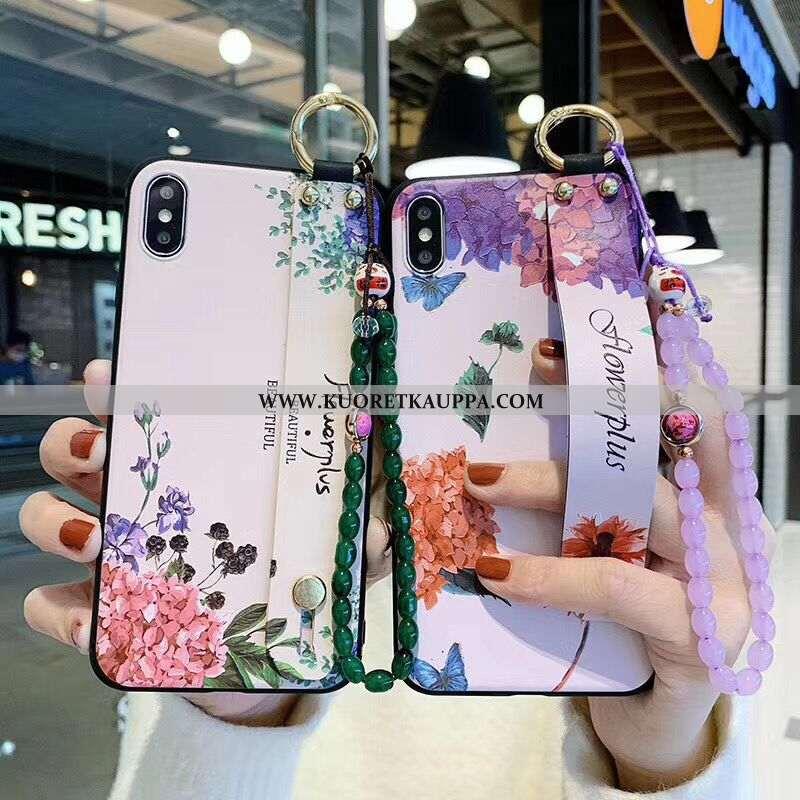 Kuori iPhone X, Kuoret iPhone X, Kotelo iPhone X Suojaus Vuosikerta Kiinalainen Tyyli Violetti