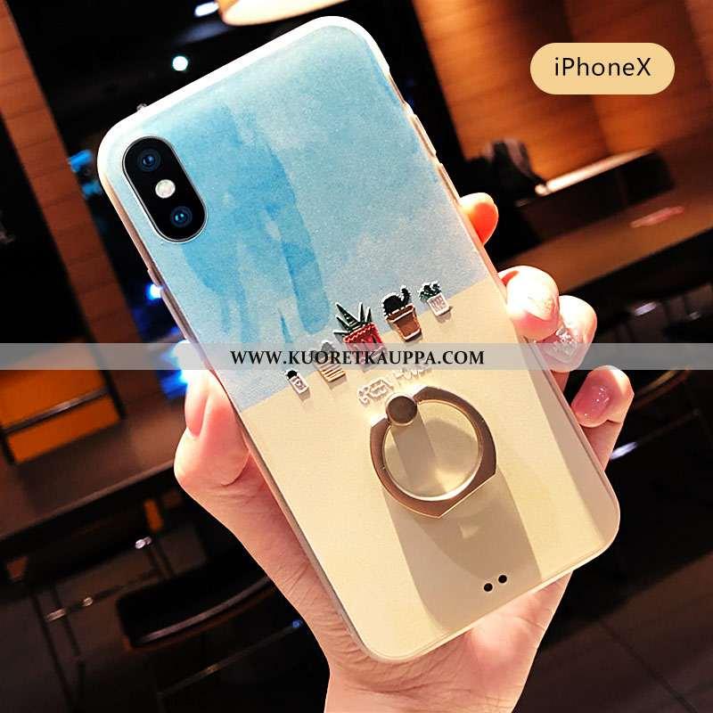 Kuori iPhone X, Kuoret iPhone X, Kotelo iPhone X Suuntaus Suojaus Kustannukset Pieni Sininen