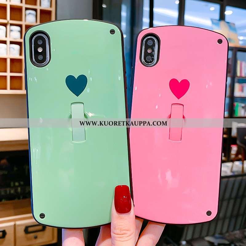 Kuori iPhone X, Kuoret iPhone X, Kotelo iPhone X Suuntaus Tila Puhelimen Rakkaus Jauhe Pinkki