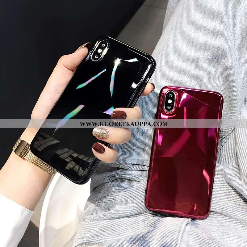Kuori iPhone X, Kuoret iPhone X, Kotelo iPhone X Tila Ylellisyys Punainen Pehmeä Neste
