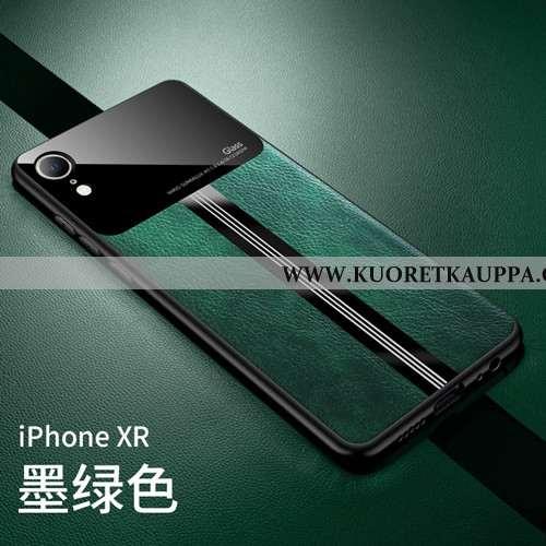 Kuori iPhone Xr, Kuoret iPhone Xr, Kotelo iPhone Xr Läpinäkyvä Pesty Suede Suojaus Kova Vihreä Turko