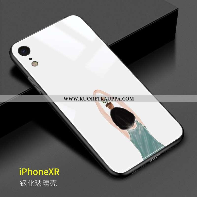 Kuori iPhone Xr, Kuoret iPhone Xr, Kotelo iPhone Xr Lasi Luova Ihana Puhelimen Valkoinen