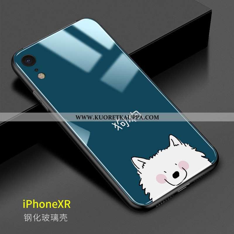 Kuori iPhone Xr, Kuoret iPhone Xr, Kotelo iPhone Xr Lasi Persoonallisuus Tummansininen Rakastunut Pu