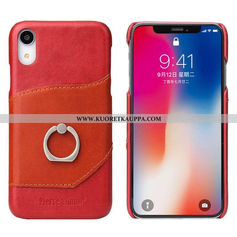Kuori iPhone Xr, Kuoret iPhone Xr, Kotelo iPhone Xr Lisävarusteet Suojaus Kortti Punainen Nahkakuori