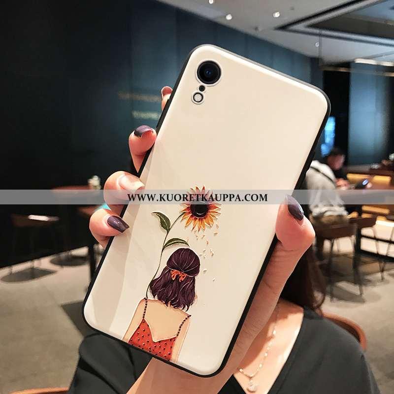 Kuori iPhone Xr, Kuoret iPhone Xr, Kotelo iPhone Xr Luova Suuntaus Valkoinen Pesty Suede Murtumaton