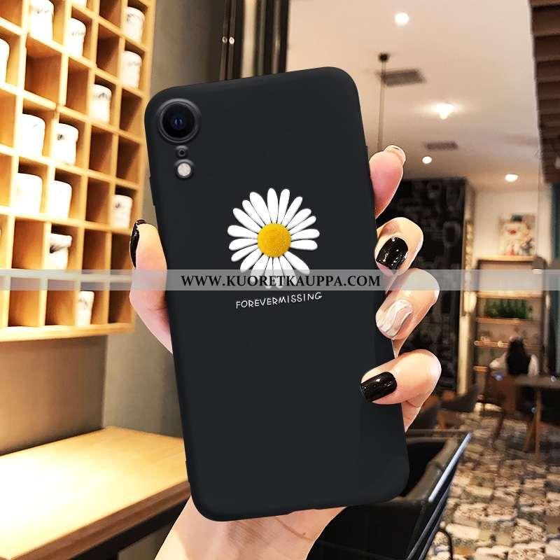 Kuori iPhone Xr, Kuoret iPhone Xr, Kotelo iPhone Xr Pehmeä Neste Valo Puhelimen Luova Suojaus Mustat