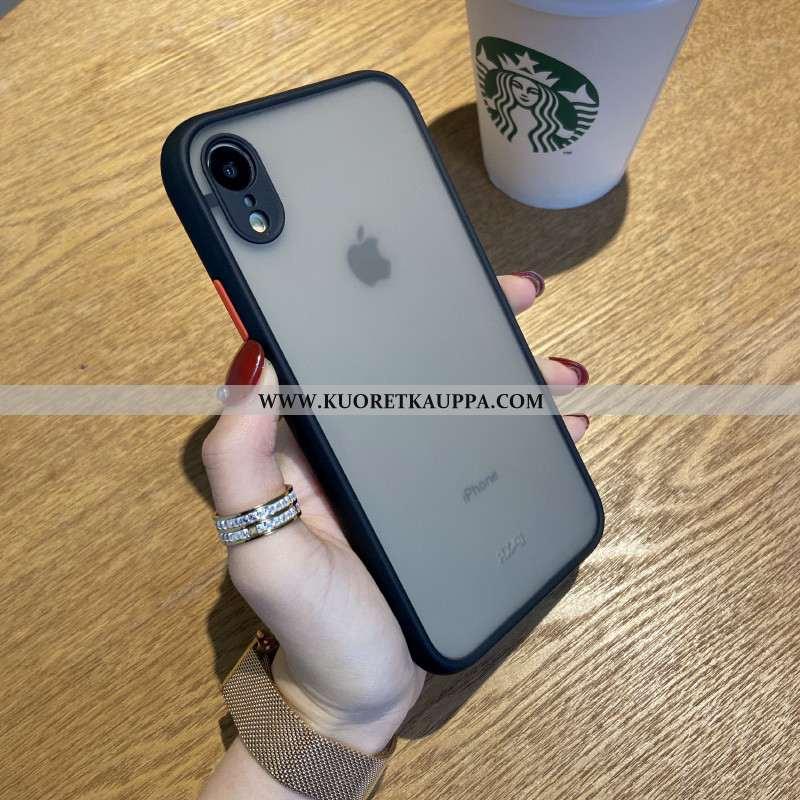 Kuori iPhone Xr, Kuoret iPhone Xr, Kotelo iPhone Xr Pesty Suede Suuntaus Läpinäkyvä Vaalean Mustat