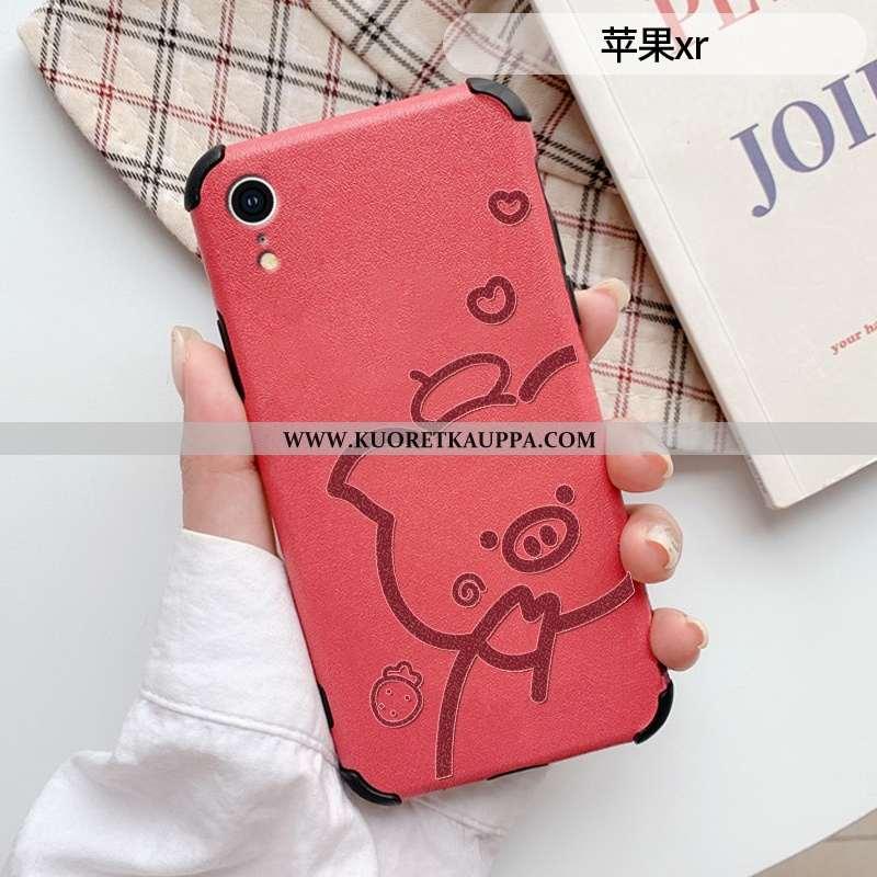 Kuori iPhone Xr, Kuoret iPhone Xr, Kotelo iPhone Xr Sarjakuva Ihana Suojaus Net Red Suuntaus Punaine