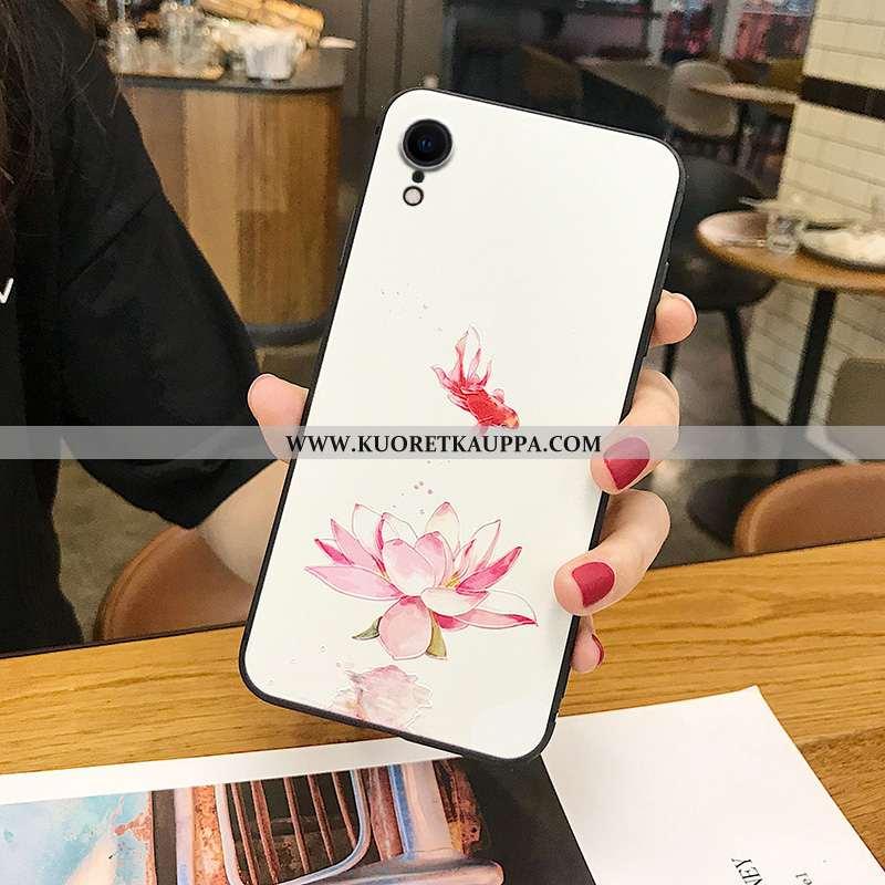 Kuori iPhone Xr, Kuoret iPhone Xr, Kotelo iPhone Xr Silikoni Pesty Suede Puhelimen Kohokuviointi Kii