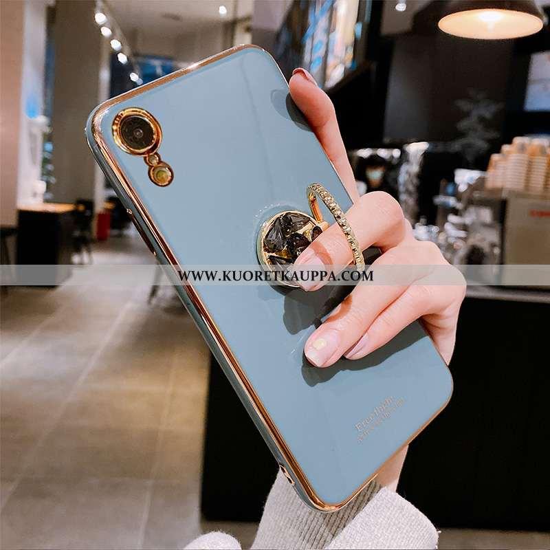 Kuori iPhone Xr, Kuoret iPhone Xr, Kotelo iPhone Xr Suuntaus Pehmeä Neste Vihreä Lehmä Sininen