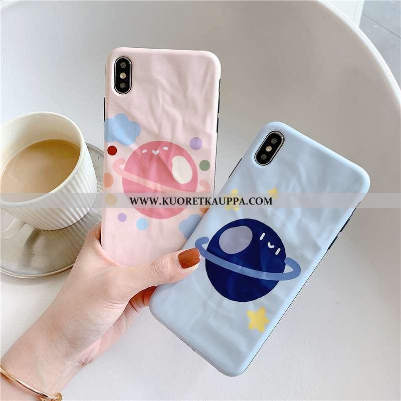 Kuori iPhone Xs, Kuoret iPhone Xs, Kotelo iPhone Xs Kukkakuvio Suojaus Luova Taittaa Murtumaton Pink
