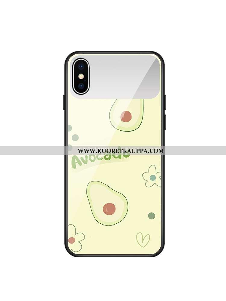 Kuori iPhone Xs, Kuoret iPhone Xs, Kotelo iPhone Xs Lasi Vihreä Lehmä Kustannukset Puhelimen