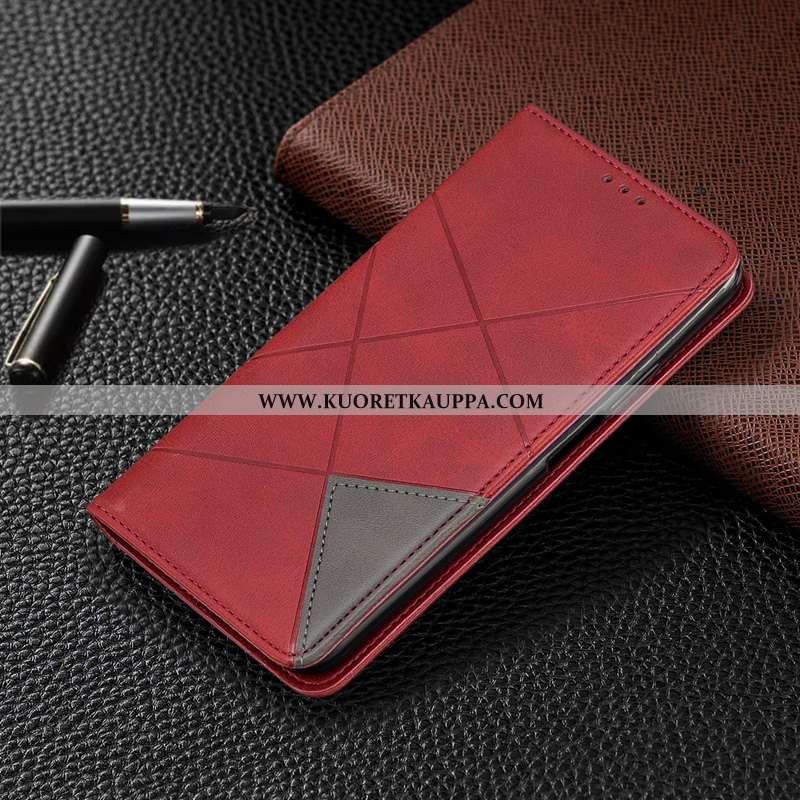Kuori iPhone Xs, Kuoret iPhone Xs, Kotelo iPhone Xs Nahkakuori Salkku Kortti Puhelimen Punainen