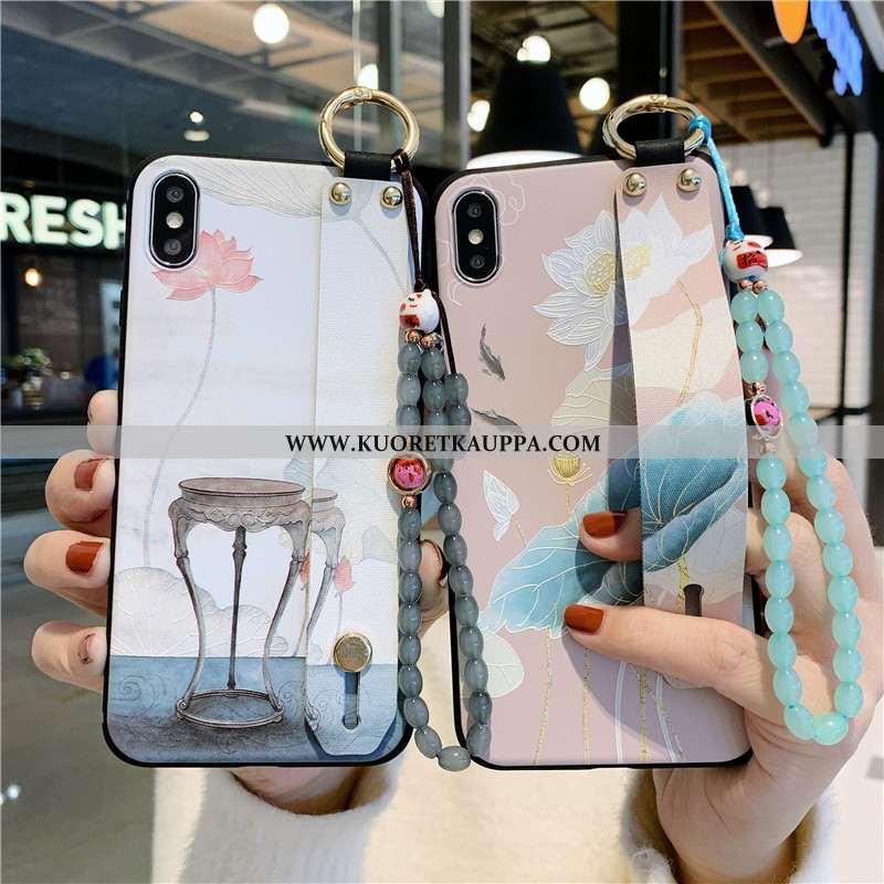 Kuori iPhone Xs, Kuoret iPhone Xs, Kotelo iPhone Xs Pehmeä Neste Suojaus Tuuli Puhelimen Valkoinen